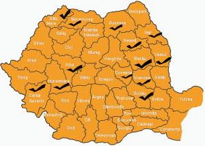harta romania Primariile cu retele wireless ce ofera internet gratuit
