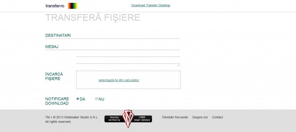 transfer1 1024x457 Transfer.ro – 2GB marimea fisierelor ce pot fi trimise